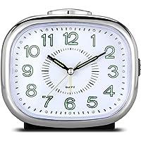 CEEBON - Reloj despertador silencioso analógico, con mecanismo