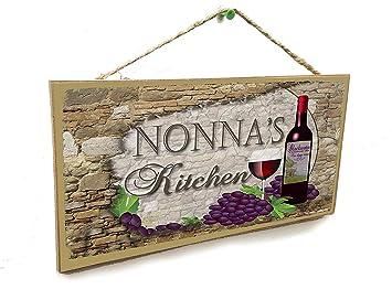 Amazon.com: Dozili – Placa de madera para colgar de vino ...