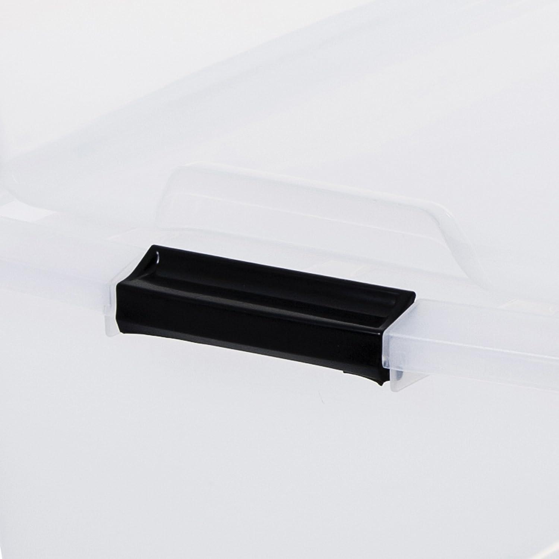 Iris 100023.0 Set di 2 scatole portaoggetti, impilabili, con ...