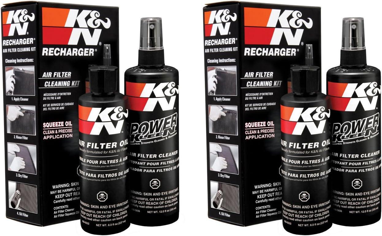Aceite para apretar Kit de limpieza de filtros de aire K /& N para recarga