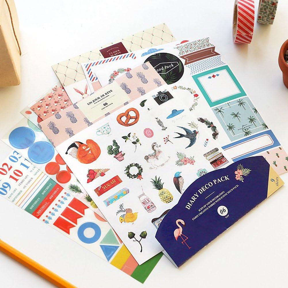 Iconic Diary Deco Pack (ver. 06): Amazon.es: Oficina y papelería
