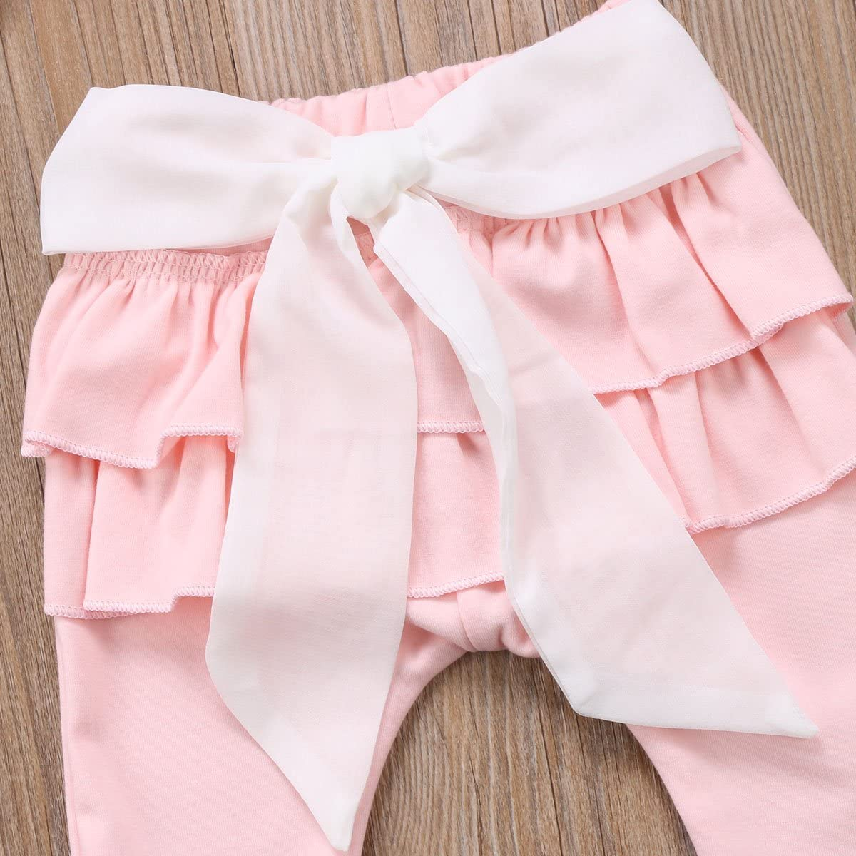 Toddler Newborn Baby Girls Loose Ruffle Lace Bowknot Harem Pants Leggings