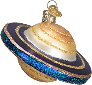 Old World Christmas Ornaments: Outer Space Gifts Glass Blown Ornaments for Christmas Tree, Saturn