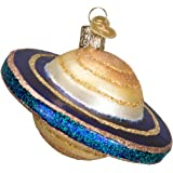 Old World Christmas Outer Space Gifts Glass Blown Ornaments for Christmas Tree Saturn