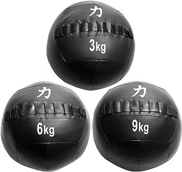 Strength Shop Balón Medicinal/Wall Juego de Pelota, 3 kg, 6 kg, 9 ...