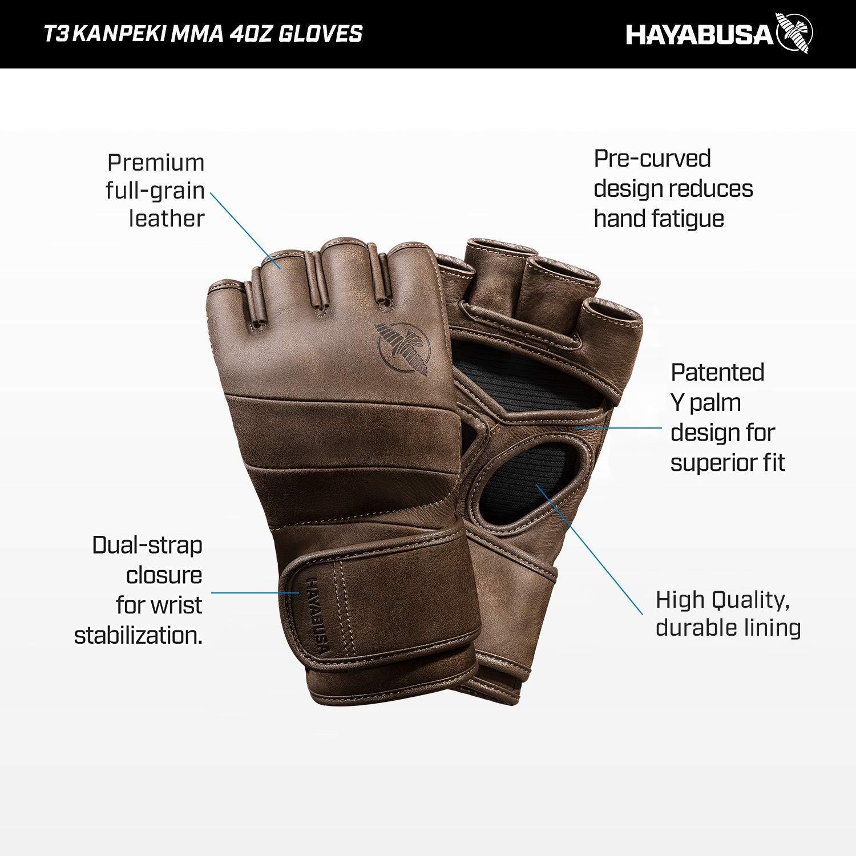 Hayabusa T3/B00AQ8H0Q8/Kanpeki 4oz MMA Guantes