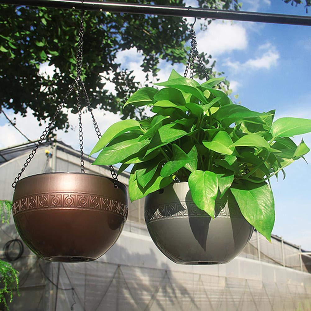 8,27Indoor Outdoor Balkon Korb Pflanzenhalter mit Kette Fancylande blument/öpfe zum aufh/ängen Pflanzer H/ängeampel Moderner Dekorativer Aufh/änger