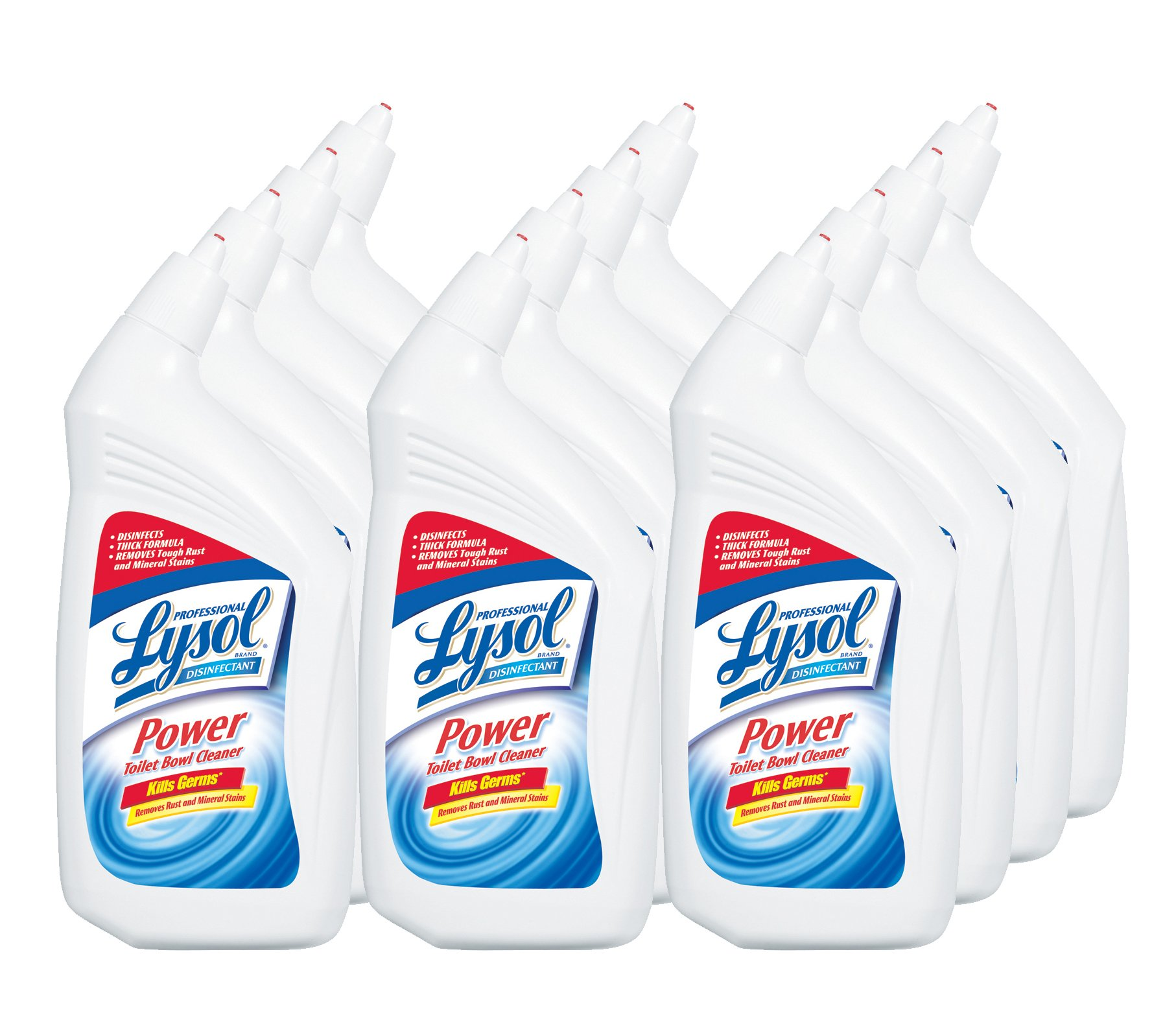 Lysol Professional Disinfectant Ready-To-Use Toilet Bowl Cleaner, 32 Ounce (Pack of 12)