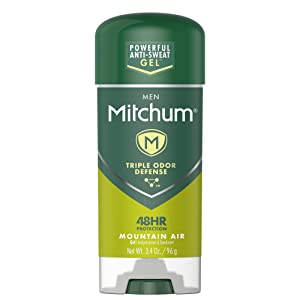 Mitchum Antiperspirant Deodorant Stick for Men, Triple Odor Defense Gel, 48 Hr Protection, Dermatologist Tested, Mountain Air, 3.4 oz