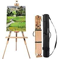 MEEDEN Tripod Field Painting Easel - Universal Tripod Easel Adjustable Portable Painting Easel Stand Beech Wood Artist…