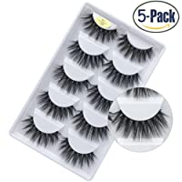Faux 3D Mink Eyelashes Dramatic Makeup Thick Long Multilayer Fluffy Hand-made False Eyelashes Pack of 5 Pairs
