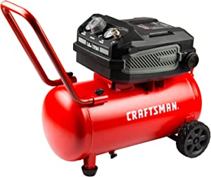 Craftsman Air Compressor, 10 Gallon 1.8 HP Max 175 PSI Pressure, Powerful and Portable Oil Free Compressor, Maintenance Free, for Home, Garage, Workshop, Model: CMXECXA0201041