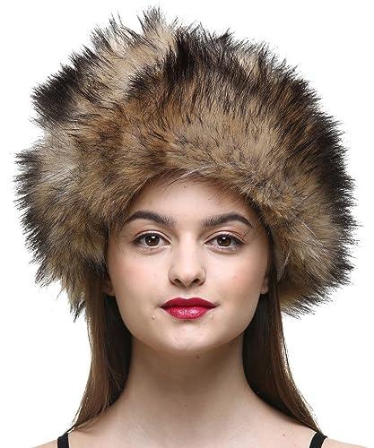 Vogueearth Mujer'Russian Style Faux Pelaje Invierno Más Cálido Sombrero Gorra