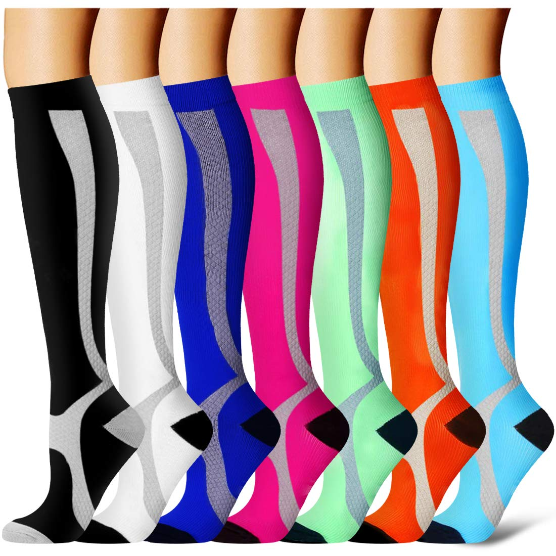 Compression Socks for Women and Men - Best Medical,for Running, Athletic, Varicose Veins, Travel by Laite Hebe