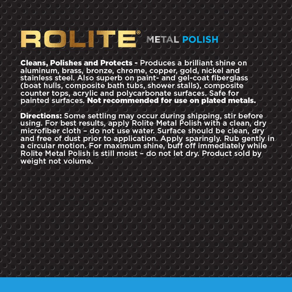 Rolite Metal Polish Paste (1lb) for Aluminum, Brass, Bronze, Chrome, Copper, Gold, Nickel and Stainless Steel by Rolite (Image #1)