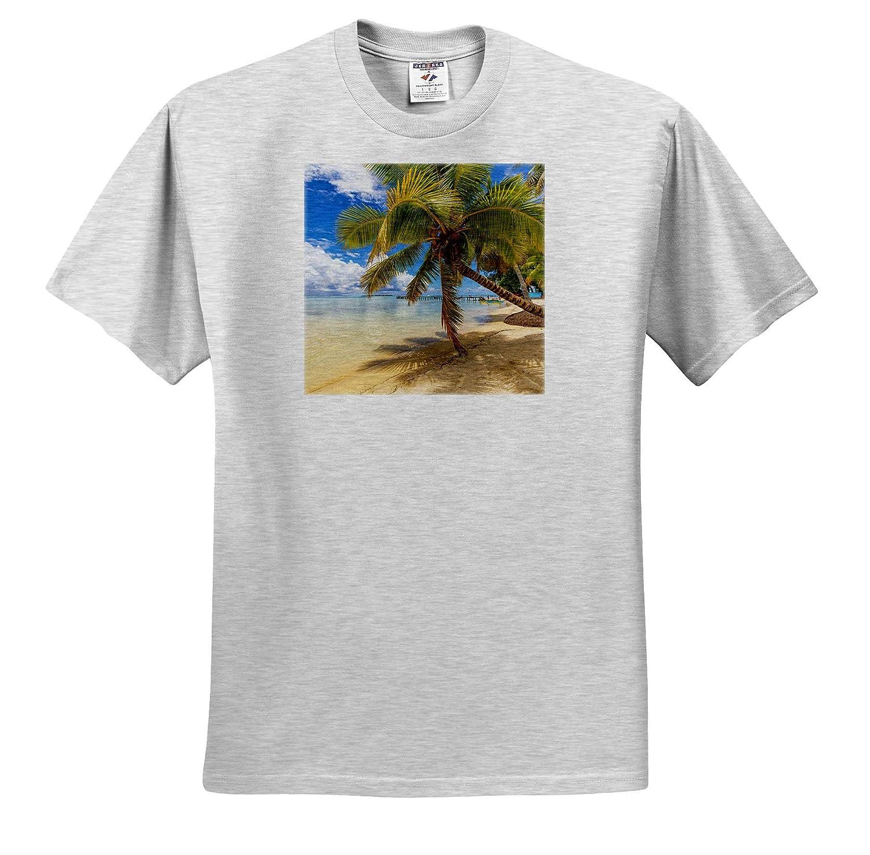 3dRose Danita Delimont Les Tipaniers Tiahura Moorea French Polynesia Adult T-Shirt XL ts/_314038 Tropical