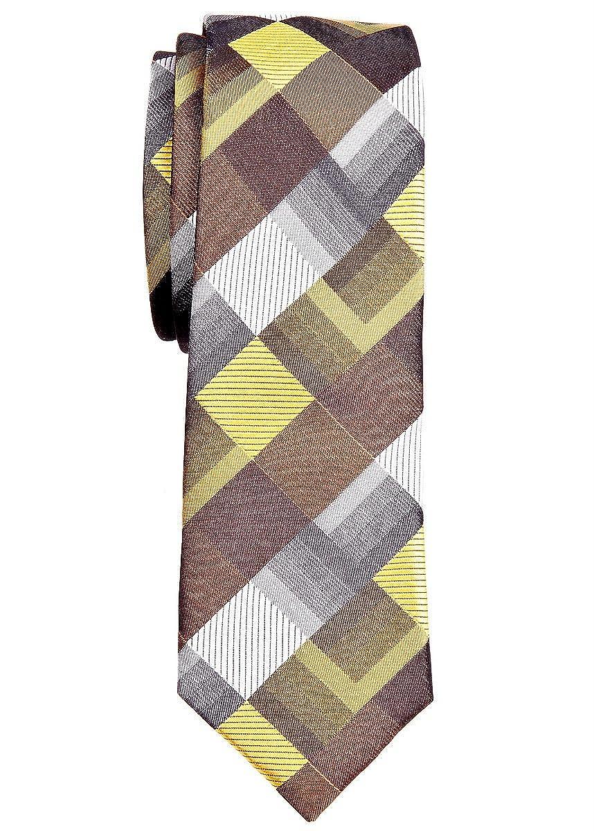 Corbata estrecha con patrón geométrico estilo vintage, de Retreez ...