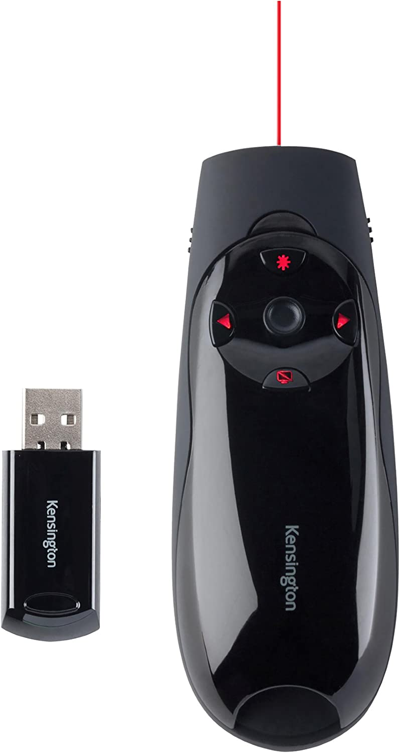 Kensington Expert Wireless Presenter with Red Laser Pointer and Cursor Control (K72425AM)