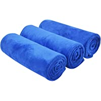 KinHwa Ultra Soft Microfiber Cleaning Car Drying Towel Large Absorbent Car Wash Towel Scratch Free Auto Detailing Towels…
