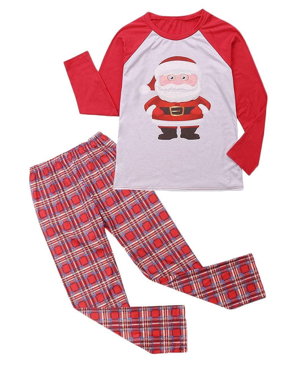 Family Matching Sleepwear Parent-Child Christmas Santa Claus Pajamas Set