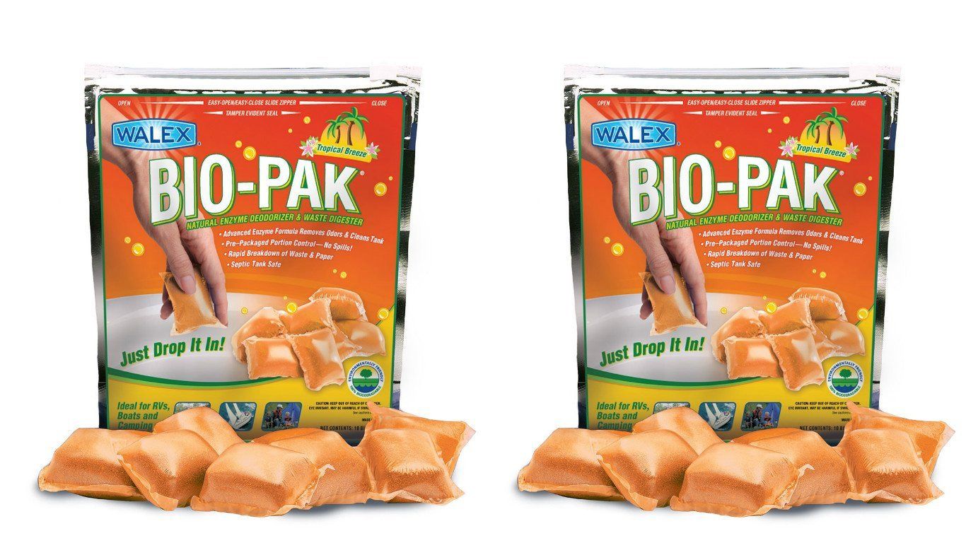 Walex BIOTROPBG Bio-Pak Holding Tank Toilet Treatment Drop In Deodorizer (Quantity 2)