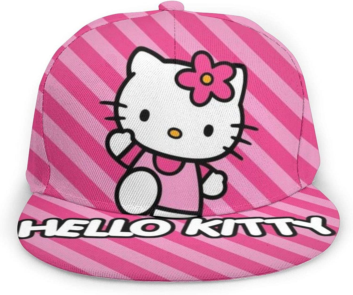 Flying Hello Kitty Unisex Classic Adjustable Dad Hat for Running Workouts and Outdoor Black Baseball Cap Men Women