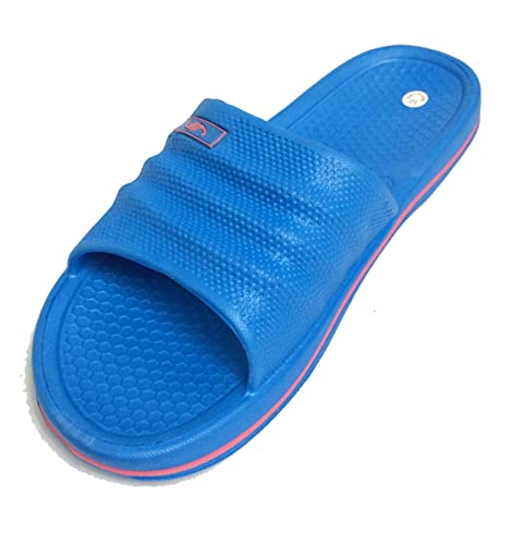 4e78bb34da2 Image Unavailable. Image not available for. Color  Shoe Shack Womens Anti  Slip Comfy Slide Sandals Home Flats Shoes Shower Slip On Slipper