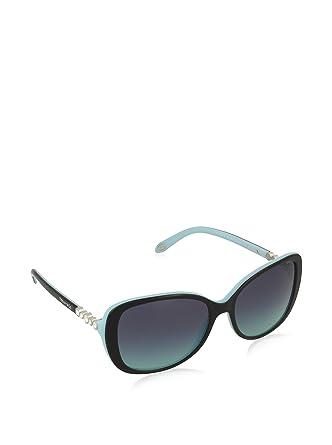 Tiffany Damen Sonnenbrille 0TY4121B 80559S, Schwarz (Black/Blue/Blueegradient), 55