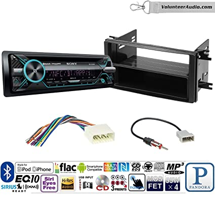 volunteer audio sony mex-n5200bt single din radio install kit with  bluetooth, cd player