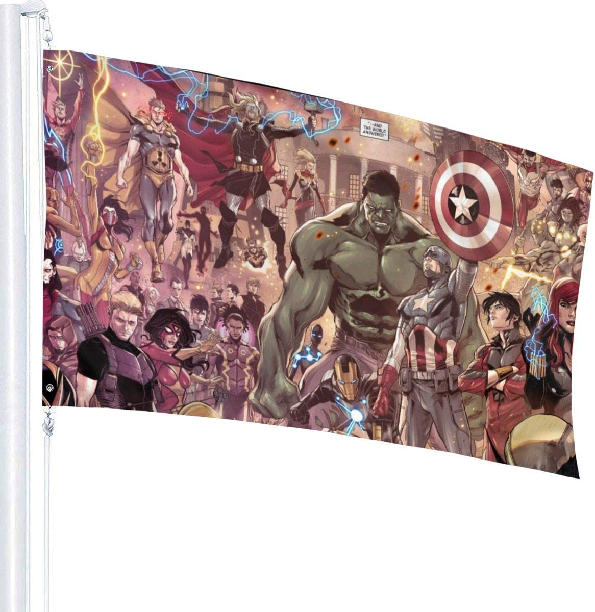 YEECUSTOM Avenger Flag 3x5 Feet Flags with Grommets Outdoor Printing Flags Quality 3x5 Feets Decoration Outdoor Stars and Stripes Banner