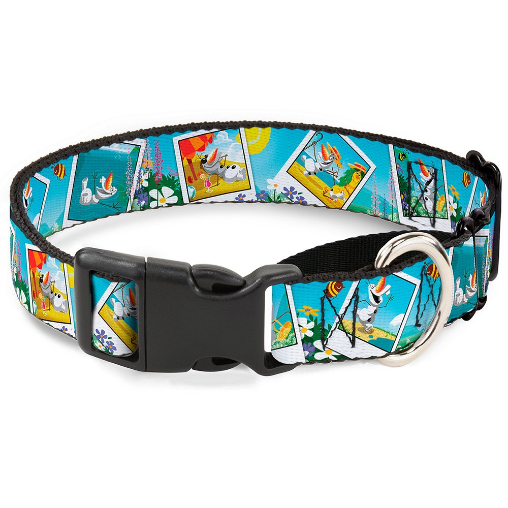 Buckle-Down Martingale Dog Collar Olaf Summertime Snapshots 1.5  Wide Fits 16-23  Neck Size Medium