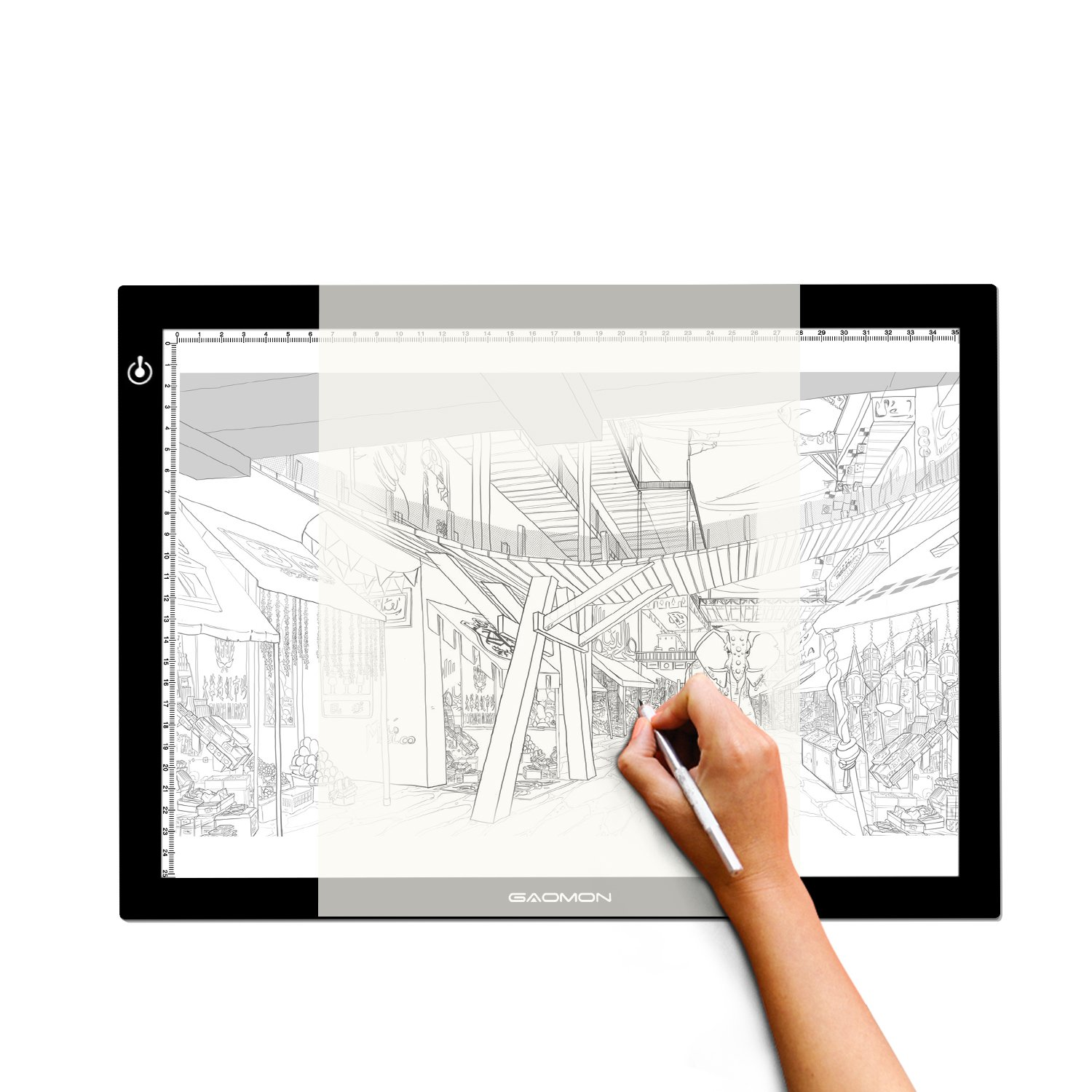 GAOMON B4 Size LED Light Box 5MM Ultrathin Light Pad USB Art Tracing Board for Sketch and Copy - GB4 by GAOMON