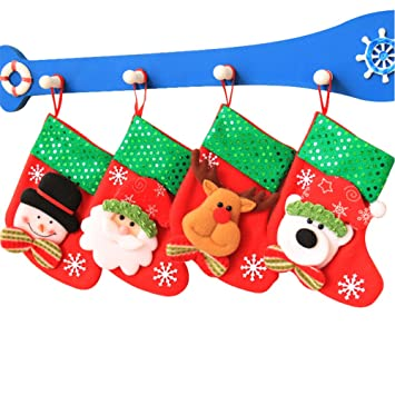christmas stockings socks for kids christmas tree decoration ornament set candy socks for christmas eve - Christmas Stockings For Kids
