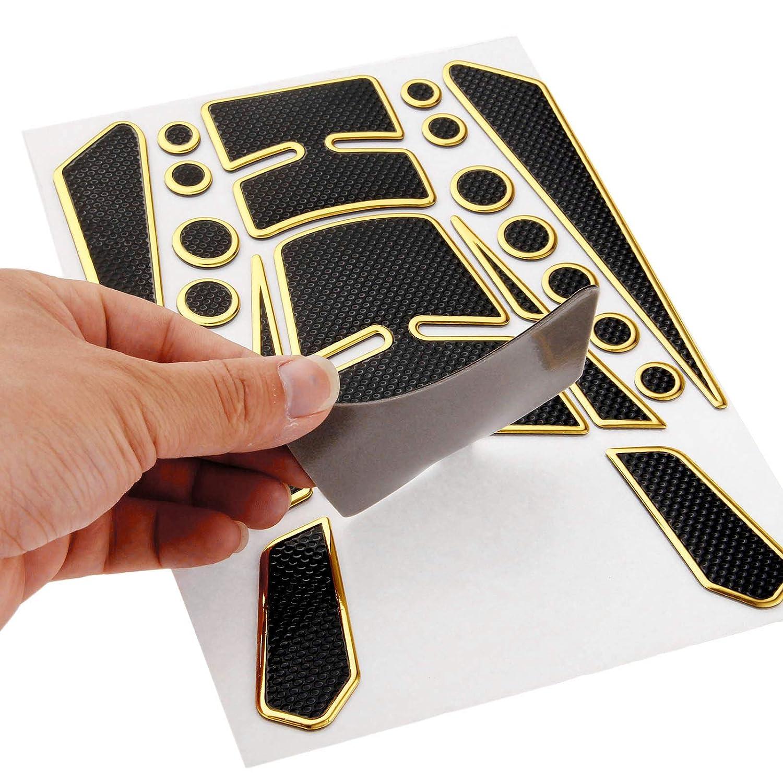 3D Gas Fuel Tank Pad Protector Sticker Decal for Honda Yamaha Suzuki Kawasaki Golden
