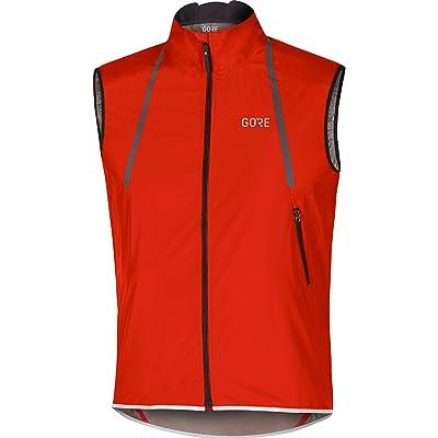 Gore Running Wear GORE Wear Homme Gilet de Cyclisme sur Route Coupe-vent GORE C7 GORE WINDSTOPPER Light Vest, Taille: XL, Couleur: Rouge, 100188