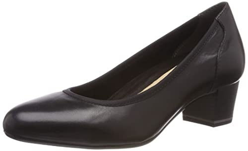 Lack Pumps von Tamaris in schwarz für Damen. Gr. 36,38