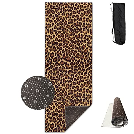 Amazon.com : QNKUqz Cool Leopard Print Deluxe Yoga Mat ...