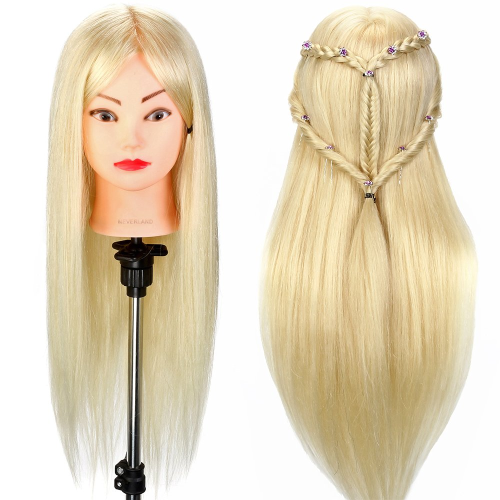 Training Head, Neverland 24 Inch Mannequin Head for Practing Braiding Hair/Styling Hair/Cutting (Included Table Clamp) NEVERLAND Beauty & Health