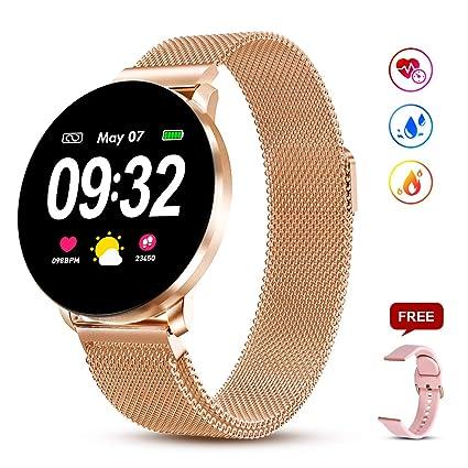Amazon.com: Reloj inteligente GOKOO CF68, Dorado: TopMall
