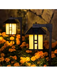 Path lights amazon gigalumi solar powered path lights solar garden lights outdoor landscape lighting for lawn aloadofball Image collections