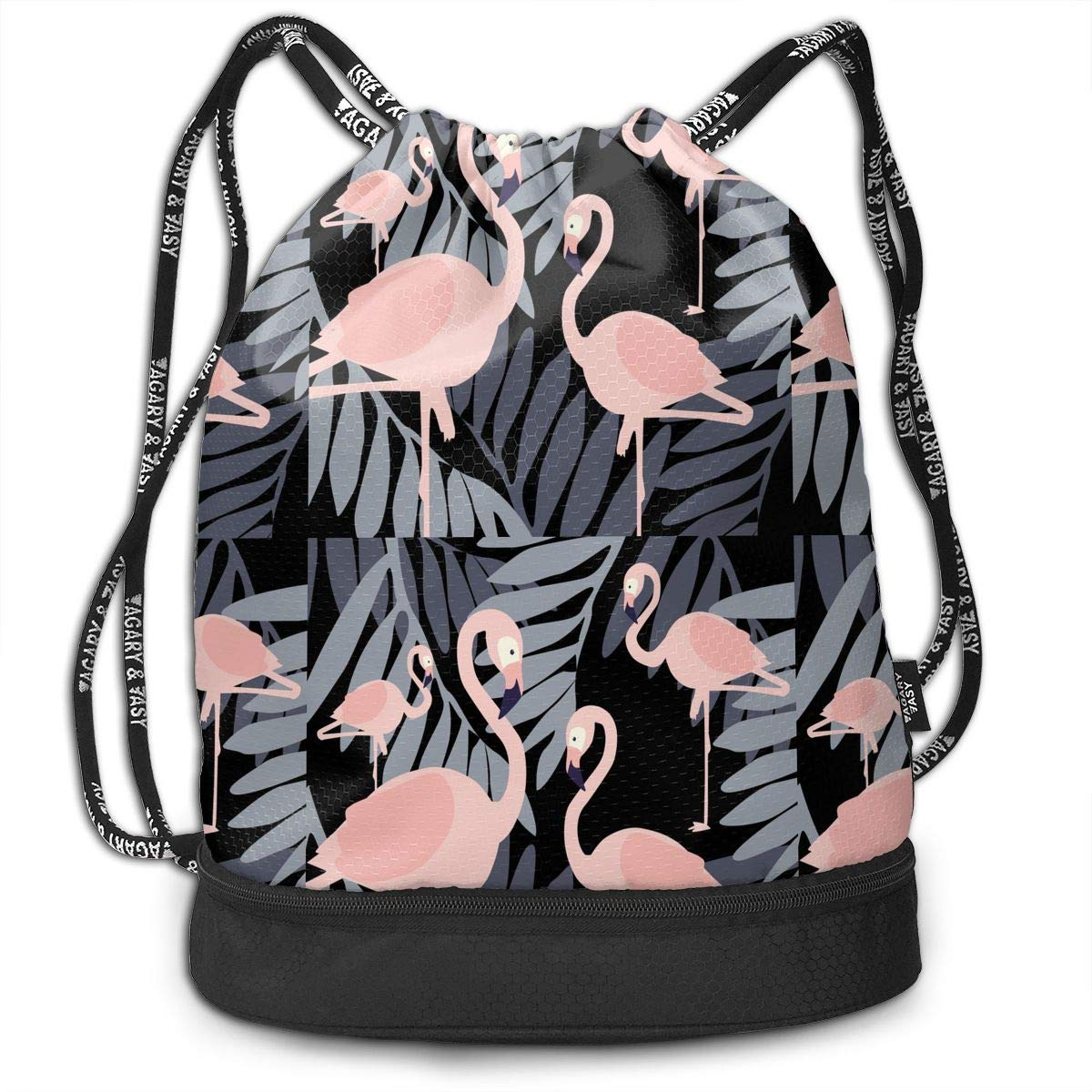 da5d5a5892cf Amazon.com: SKBGKL2 Vector Floral with Flamingo Pattern Drawstring ...