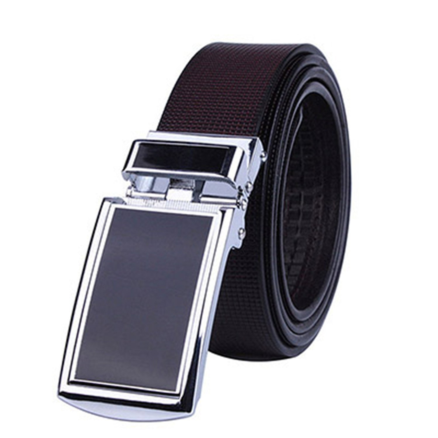 Shining4U?Fashion?NEW New Automatic Men Belt Leather With Brown Strap Men Belts Designers And Customization 3.2cm Width