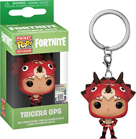 Funko- Keychain Pocket Pop Fortnite Tricera Ops Figura de ...