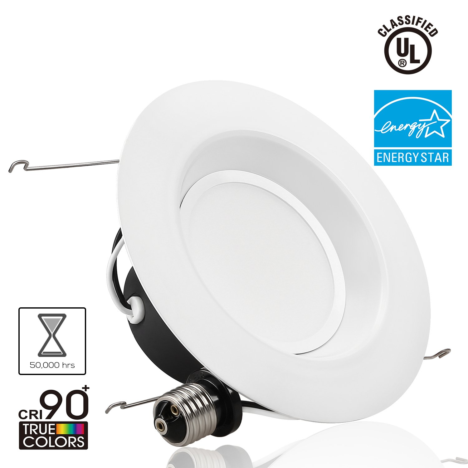 Led Light Fixtures Damp Location: Wet Location 15W Dimmable Retrofit LED Recessed Lighting