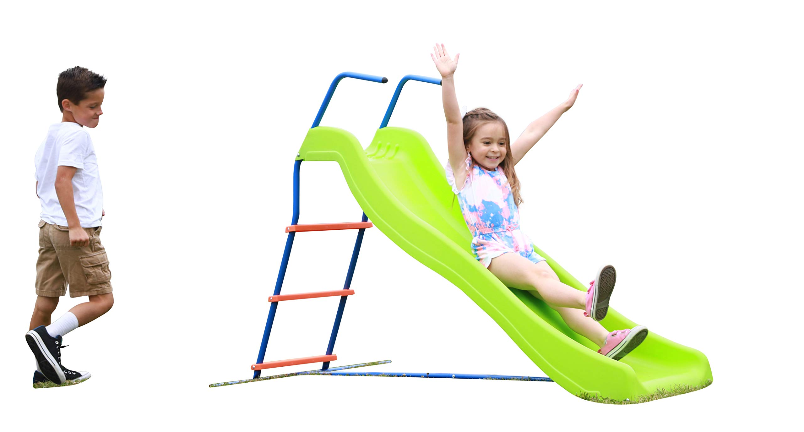 Kids 6ft Outdoor Playground Slide: Freestanding Play Equipment Playset for Children. Perfect Indoor Outdoor Backyard Entertainment. Maximum Child Safety Standards. Easy Assembly. 3 4 5 6 Year Old Fun! by SLIDEWHIZZER