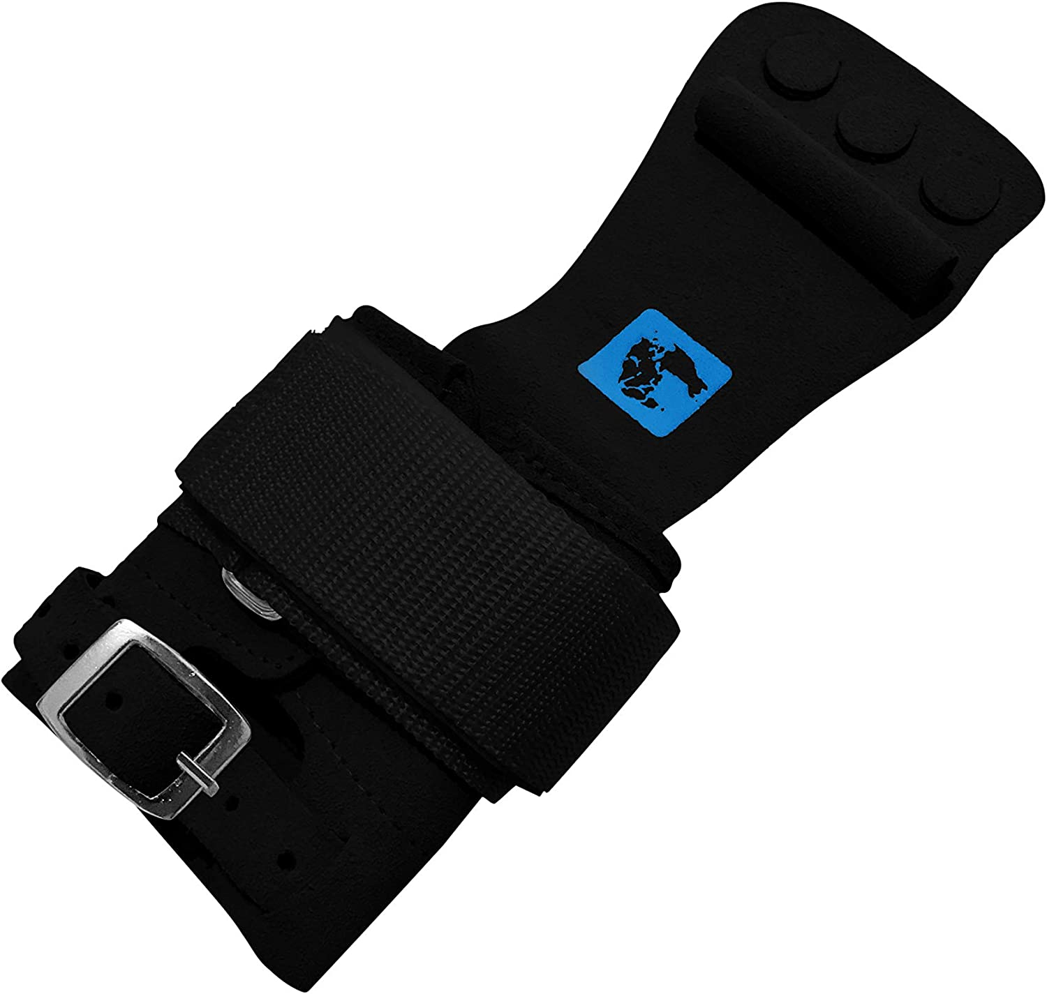 Senior gymadvisor leather MENS HIGH BAR with combi fastening gymnastic hand guards 3 finger holes