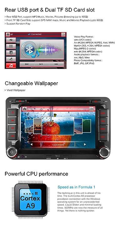 IAUCH Car Stereo GPS Navigation DVD Sat Nav for VW: Amazon co uk