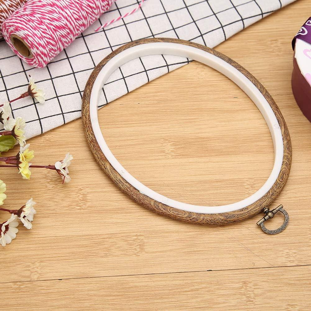 anillo de aro marco ovalado para herramientas de costura 15 x 12cm Juego de aros de bordado de madera para punto de cruz Prosperveil