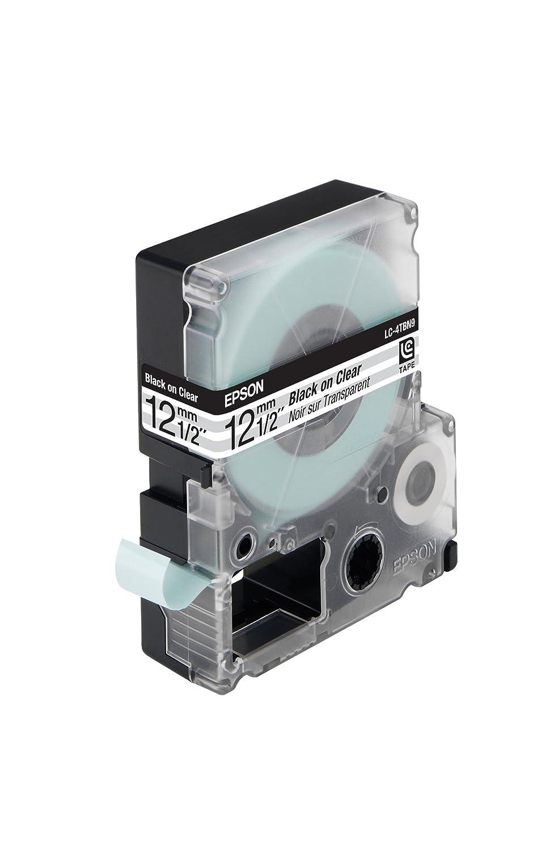 Epson Nastro per Etichettatrice LC 12 mm Nero sopra Bianco Opaca