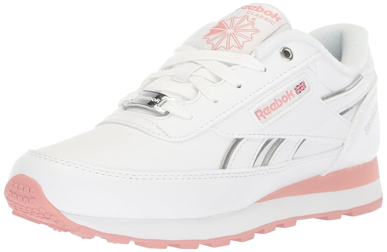 Reebok Women's Classic Renaissance Walking Shoe B078VL99WN 6 B(M) US|White/Chalk Pink/Silver